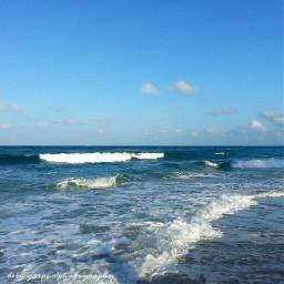 nature beach ocean bluesky gentlewaves