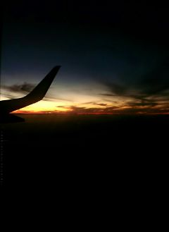 photography sunset silhouette airplane sky