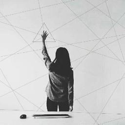 geometry girl create edit blackandwhite freetoedit