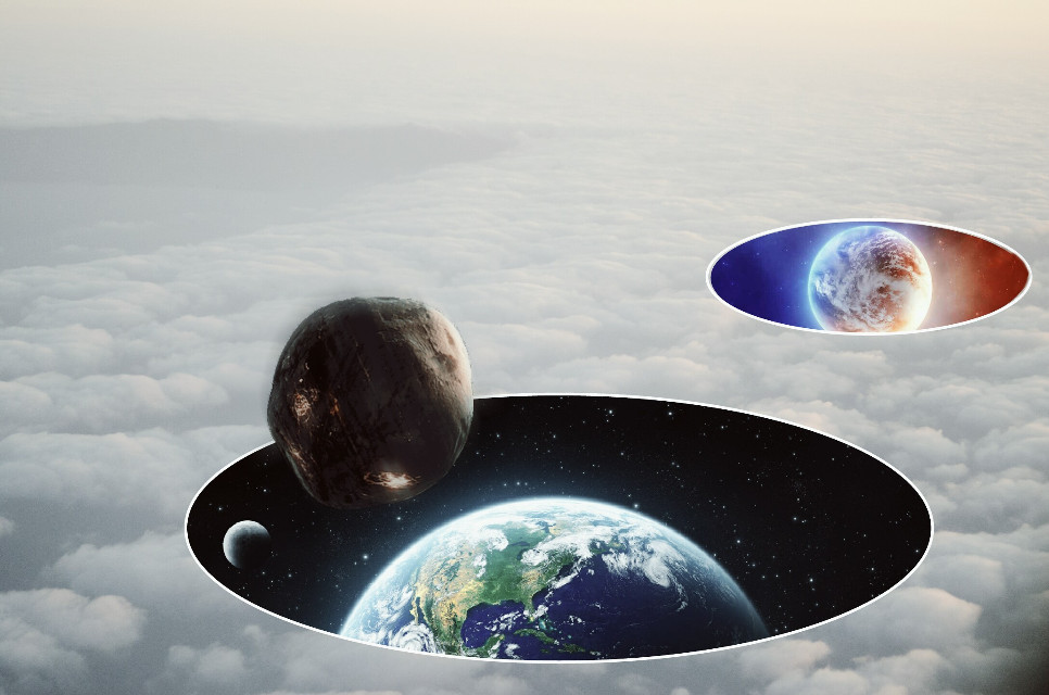 #surrealistgate #space #earth #planets #asteroids #stars #clouds