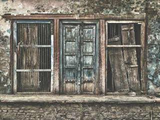 oldphoto gates wood wooden india