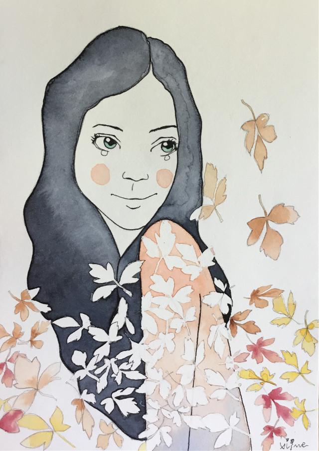 Autumn by Rocio Vigne #illustration #draw #drawing #art #autumn #seasons #rociovigne #vigneillustration