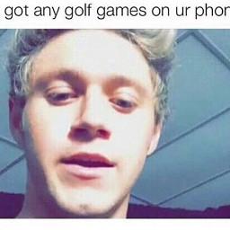 niallhoran golf game phone golfing