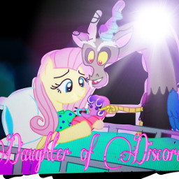 mlp daughterofdiscord fluttershy discord screwball