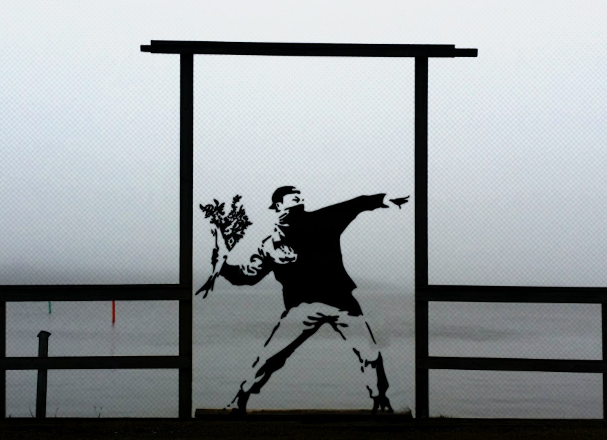 #art #banksy #edited #photography #ocean #fog
