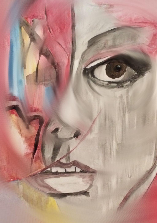 #art #watercolor #face #woman #fun #eyes #fantasy #photography