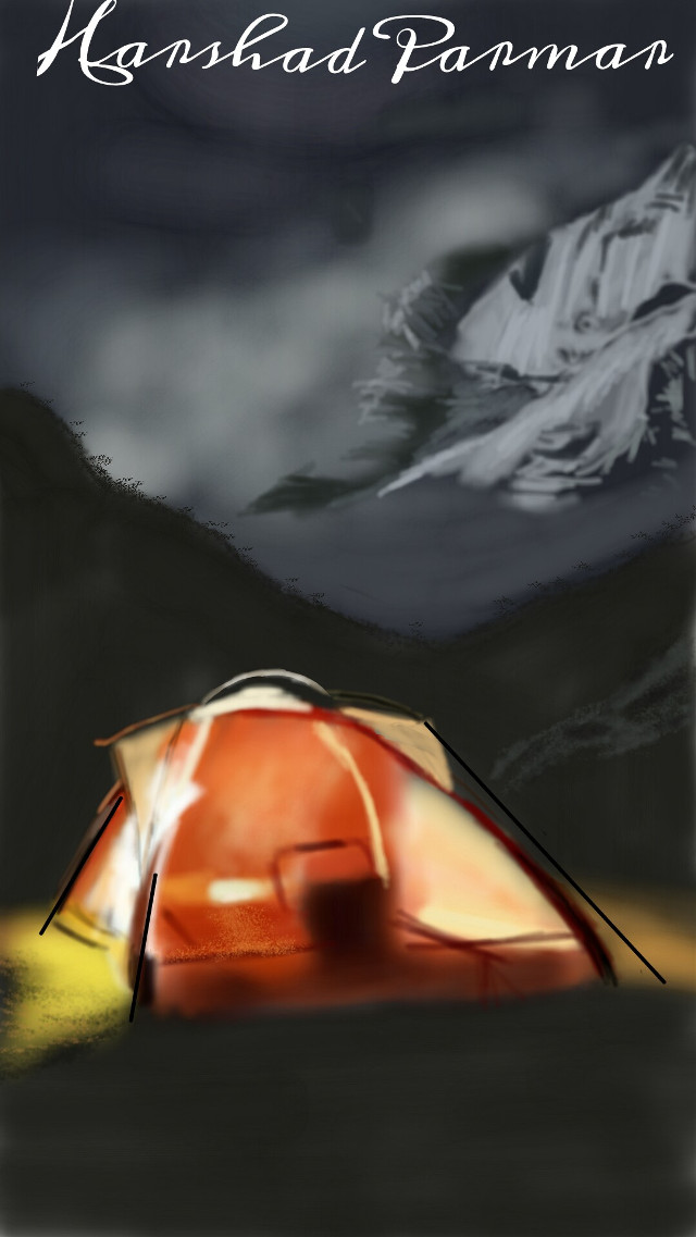 #wdpcamp#nightcamp#moutain#tent#nature#digitalart  Hope u all like it my friends, thanx in advance for ur likes, votes& repost.