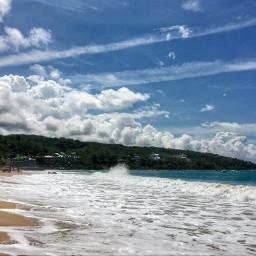 beach nature travel sea sky