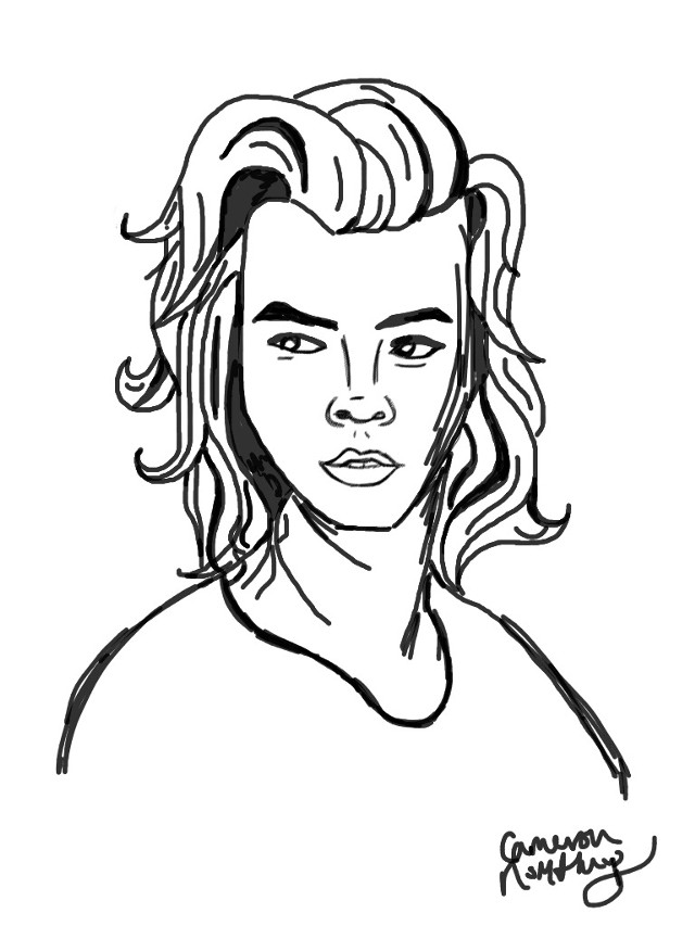 A drawing I did on here of Harry Styles #harrystyles #harry #harrystyles