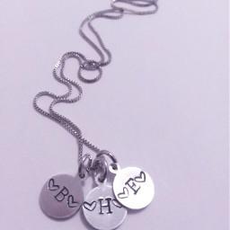 blackandwhite love necklace handmade silver
