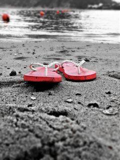 photography beach summer flipflops colorsplash