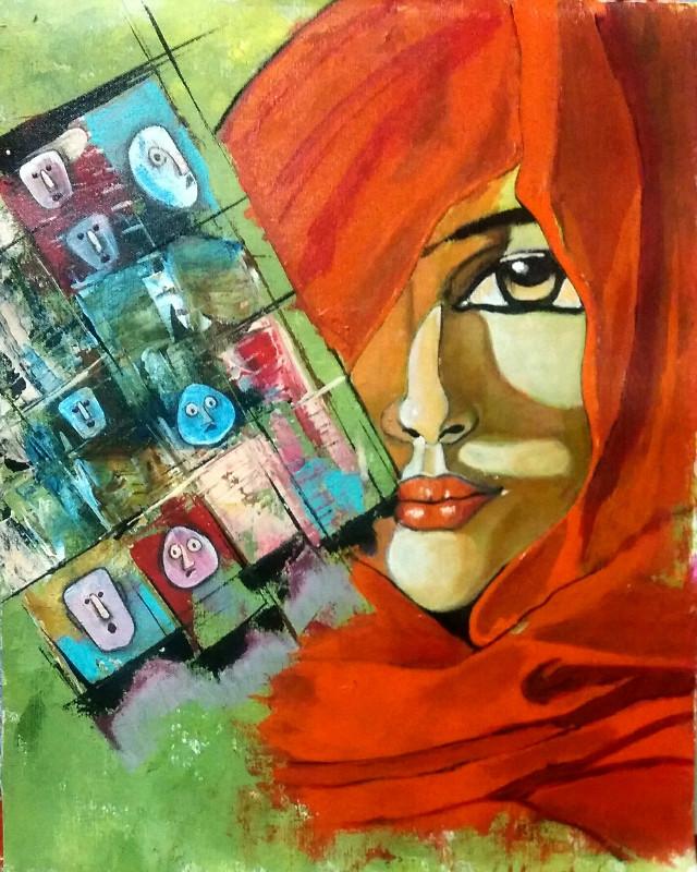 "#FreeToEdit  Even stones stunned..... Acrylic on canvas  16""20"" #art #artist #artistic#acrylicart #acrylicartist #abstractart #abstractartist #abstract #acryliccolors#colorful #colorsplash #colors#pencilart #people #petsandanimals #photography #popart #pencilartist#sketch #dketchart#fineart #fineartist #@pa  @freetoedit @0mental"