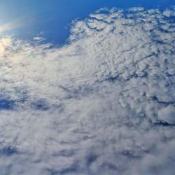 sky cloud blue sun freetoedit