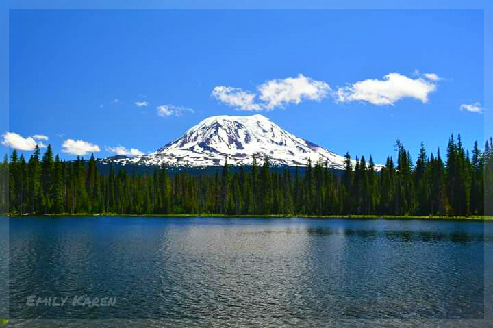 Mount Adams, Washington State #nature #photography #mountain #lake #alpine