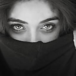 bw eyes arabico people summer freetoedit