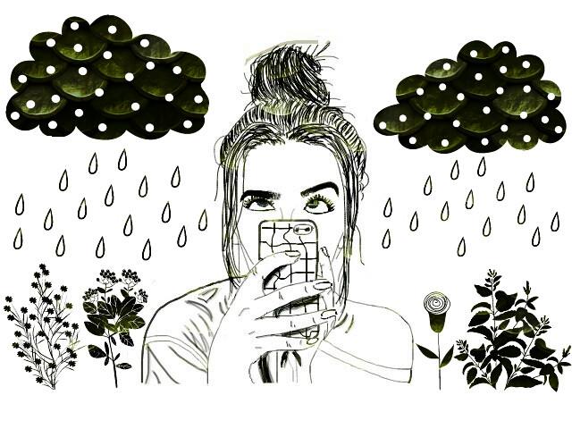 #FreeToEdit #girl #green #rain #rainnyday #travel #photography #nature #people #flower