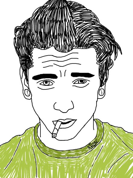 Tumblr guy #interesting #greaser #tumblr #guy #tumblrguy #outlines #drawings #outlinedrawing #art #digitalart