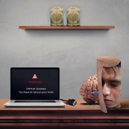 photography warning brain