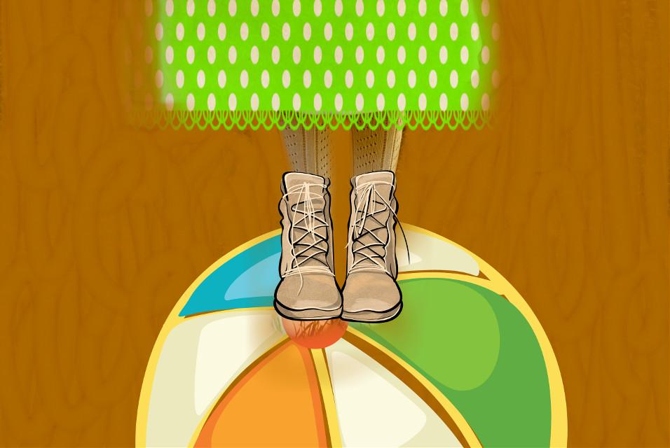 #FreeToEdit #beachball#boots
