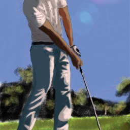 wdpoutlines drawing draw golfing nature
