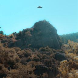ufo strange dream landscape sky