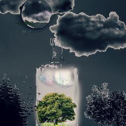 freetoedit moon moonart myedit cloudsandsky