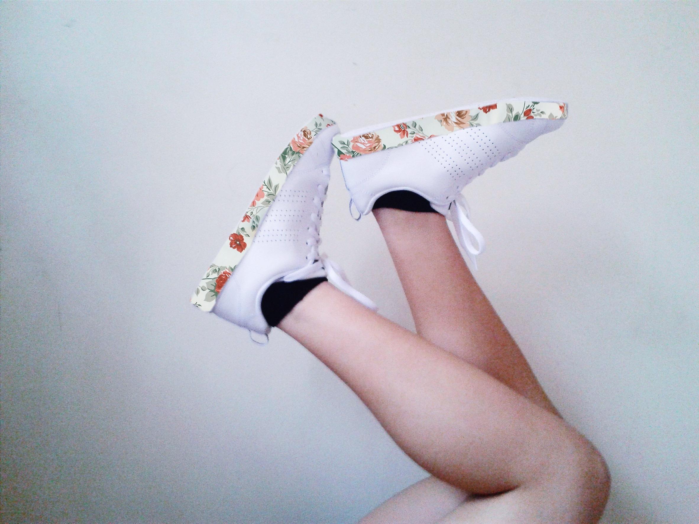 #FreeToEdit #interesting #art #shoes #adidas #white #flowers #wapfloralwrap