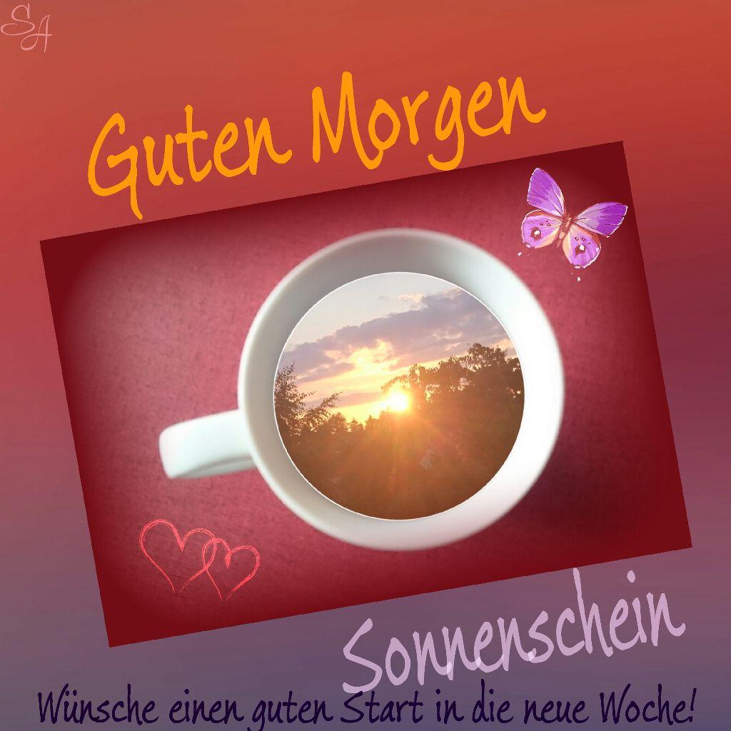 Gutenmorgen Sonnenschein Kaffee Grüße Effect Great