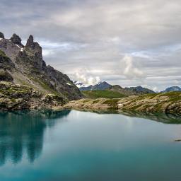 mountainlake pizol switzerland hiking wanderlust swissalps nature beautiful