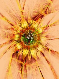 wdpfloralpaper drawing artistic sunflower fantasy