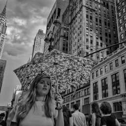 streetphotography rain photography umbrella blackandwhite freetoedit