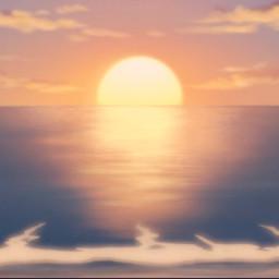 sunset animescenery anime beautiful