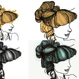 freetoedit stepbystepdrawing process hair drawing