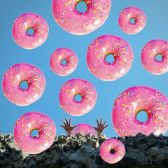 freetoedit donut sky hands colorful