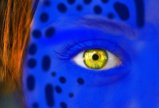 #xmen,#mystique,#blue,#makeup,#yellow